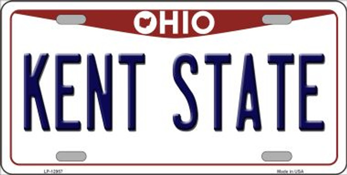 Kent State Novelty Metal License Plate LP-12957