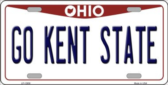 Go Kent State Novelty Metal License Plate LP-12958