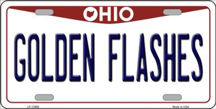 Golden Flashes Novelty Metal License Plate LP-12960