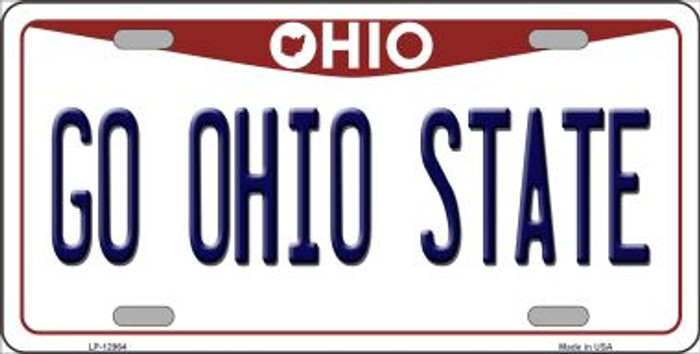 Go Ohio State Novelty Metal License Plate LP-12964