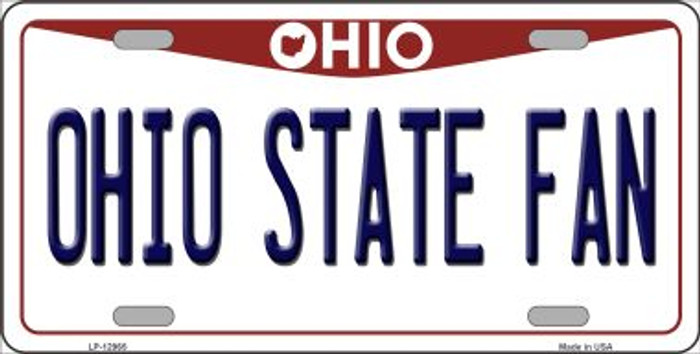 Ohio State Fan Novelty Metal License Plate LP-12965