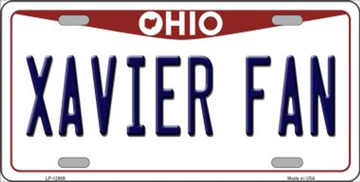 Xavier Fan Novelty Metal License Plate LP-12969