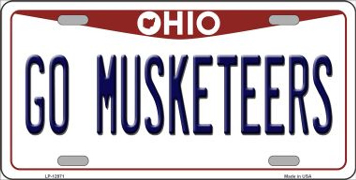 Go Musketeers Novelty Metal License Plate LP-12971