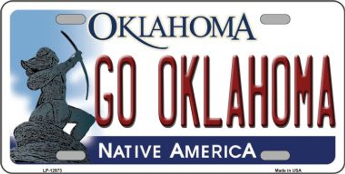 Go Oklahoma Novelty Metal License Plate LP-12973