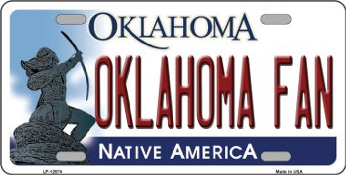 Oklahoma Fan Novelty Metal License Plate LP-12974
