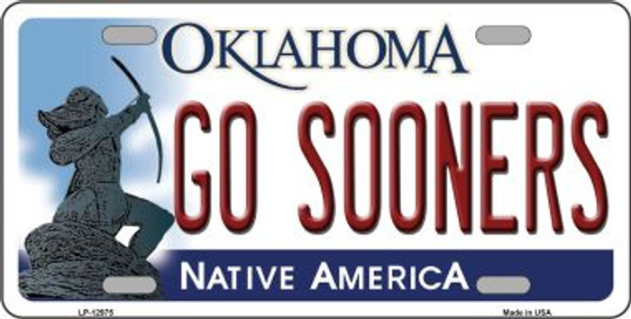 Go Sooners Novelty Metal License Plate LP-12975