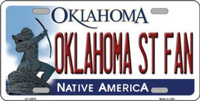 Oklahoma State Fan Novelty Metal License Plate LP-12978