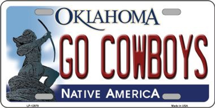 Go Cowboys Novelty Metal License Plate LP-12979