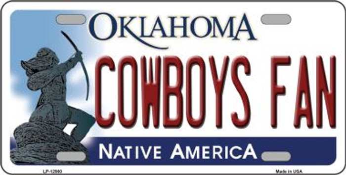 Cowboys Fan Novelty Metal License Plate LP-12980
