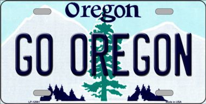 Go Oregon Novelty Metal License Plate LP-12981