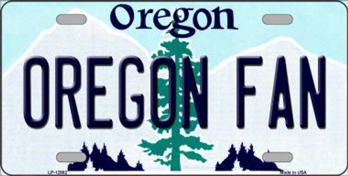 Oregon Fan Novelty Metal License Plate LP-12982