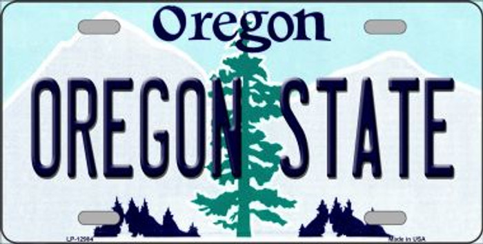Oregon State Novelty Metal License Plate LP-12984