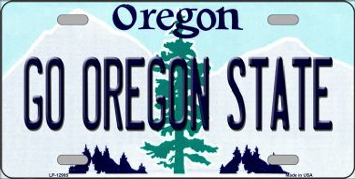 Go Oregon State Novelty Metal License Plate LP-12985