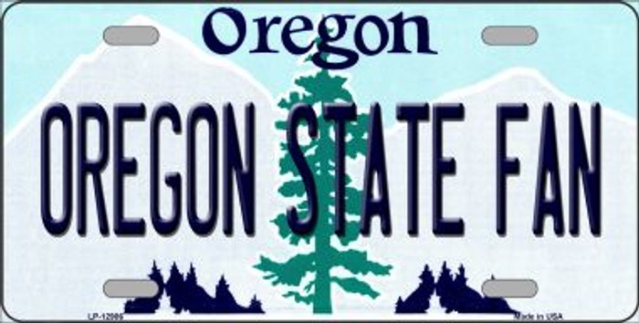 Oregon State Fan Novelty Metal License Plate LP-12986