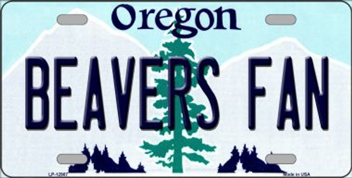 Beavers Fan Novelty Metal License Plate LP-12987
