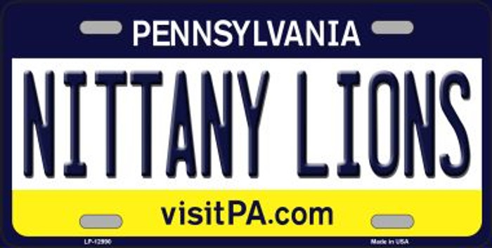 Nittany Lions Novelty Metal License Plate LP-12990
