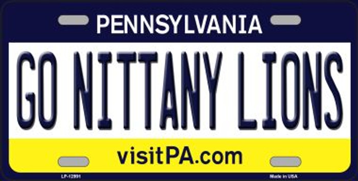 Go Nittany Lions Novelty Metal License Plate LP-12991