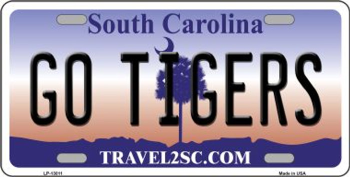 Go Tigers Novelty Metal License Plate LP-13011