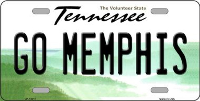 Go Memphis Novelty Metal License Plate LP-13017