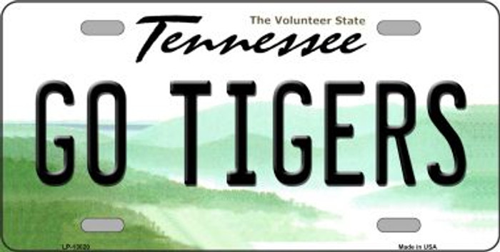 Go Tigers Novelty Metal License Plate LP-13020