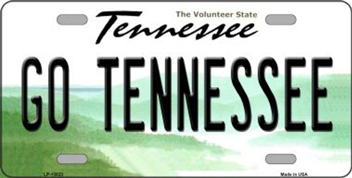 Go Tennessee Novelty Metal License Plate LP-13023