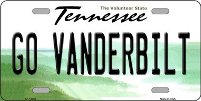 Go Vanderbilt Novelty Metal License Plate LP-13028