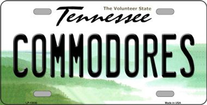 Commodores Novelty Metal License Plate LP-13030