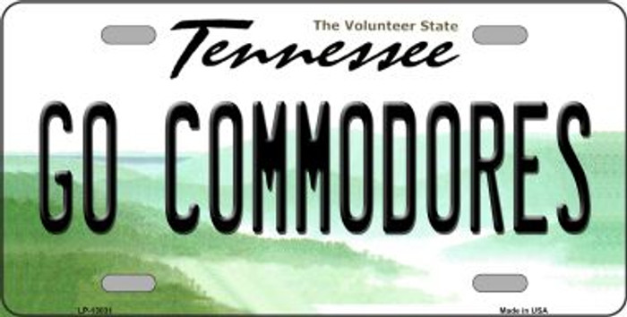 Go Commodores Novelty Metal License Plate LP-13031