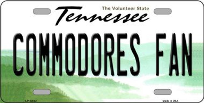 Commodores Fan Novelty Metal License Plate LP-13032