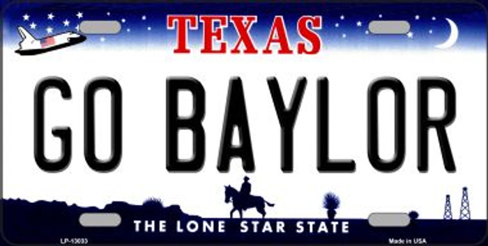 Go Baylor Novelty Metal License Plate LP-13033