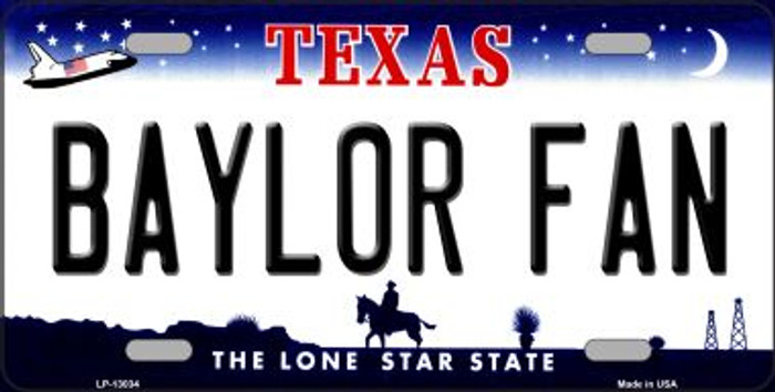 Baylor Fan Novelty Metal License Plate LP-13034