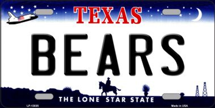 Bears Novelty Metal License Plate LP-13035