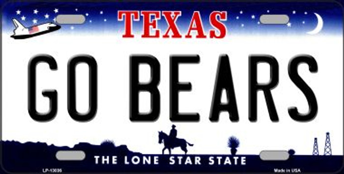Go Bears Novelty Metal License Plate LP-13036