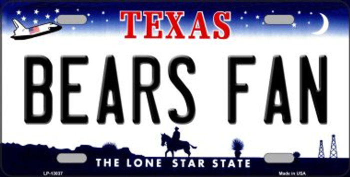 Bears Fan Novelty Metal License Plate LP-13037