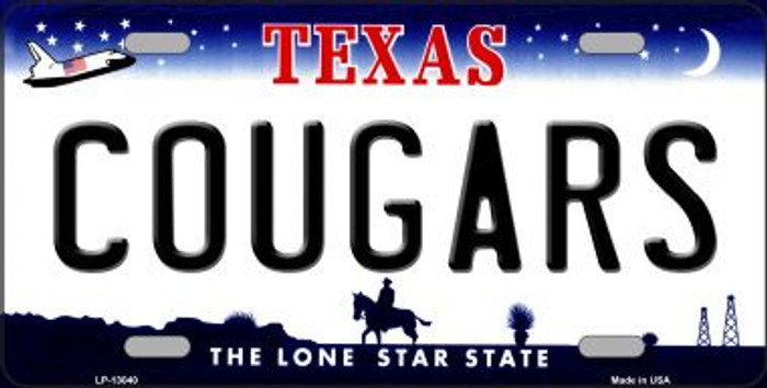 Cougars Novelty Metal License Plate LP-13040