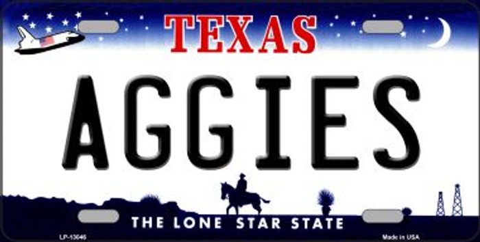 Aggies Novelty Metal License Plate LP-13046
