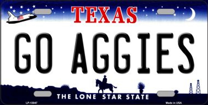 Go Aggies Novelty Metal License Plate LP-13047