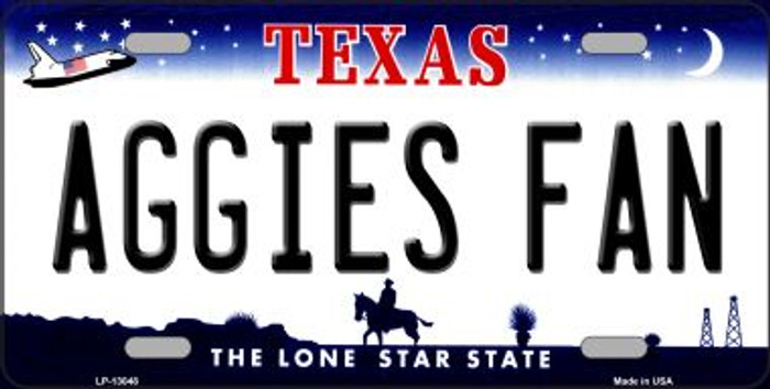 Aggies Fan Novelty Metal License Plate LP-13048