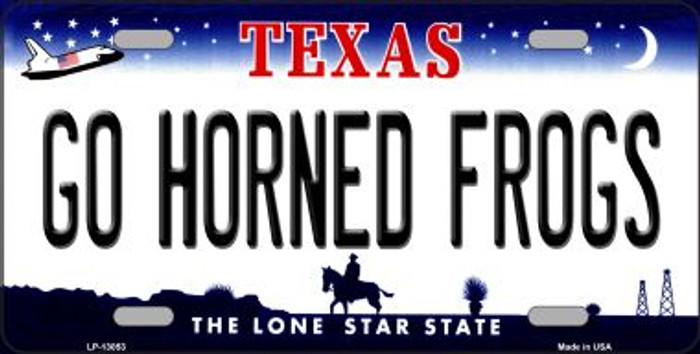 Go Horned Frogs Novelty Metal License Plate LP-13053