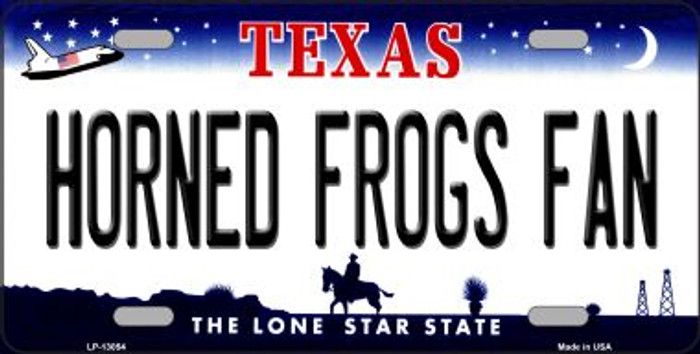 Horned Frogs Fan Novelty Metal License Plate LP-13054