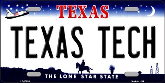Texas Tech Novelty Metal License Plate LP-13055