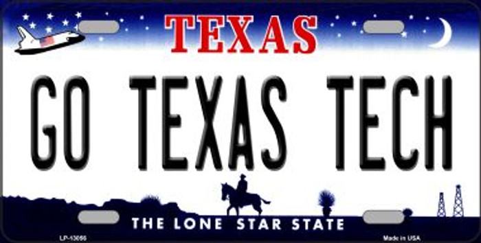 Go Texas Tech Novelty Metal License Plate LP-13056