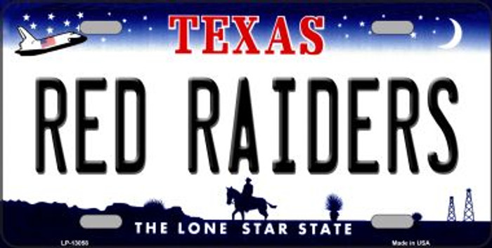 Red Raiders Novelty Metal License Plate LP-13058