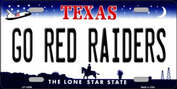 Go Red Raiders Novelty Metal License Plate LP-13059