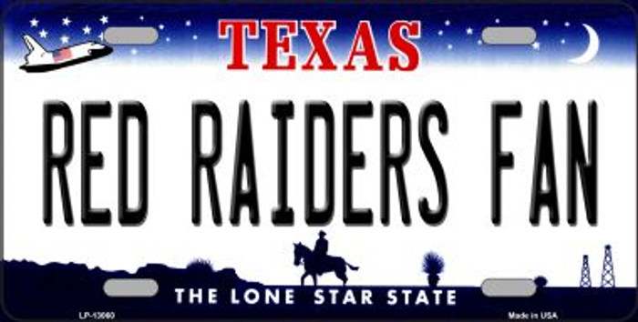 Red Raiders Fan Novelty Metal License Plate LP-13060