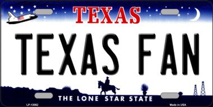 Texas Fan Novelty Metal License Plate LP-13062
