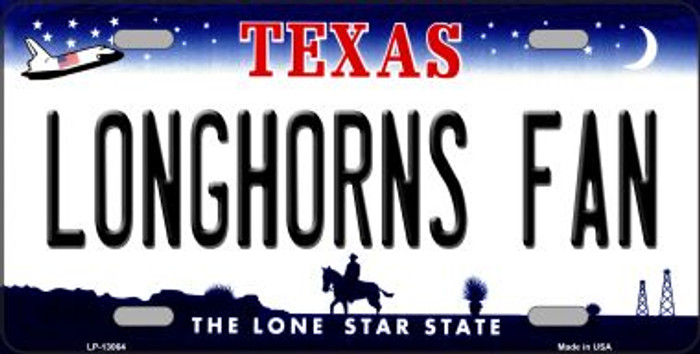 Longhorns Fan Novelty Metal License Plate LP-13064