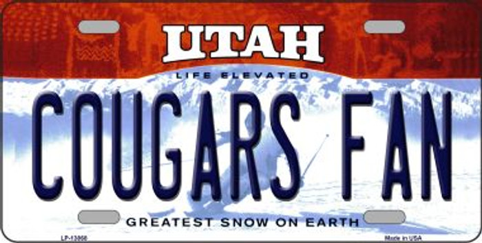 Cougars Fan Novelty Metal License Plate LP-13068