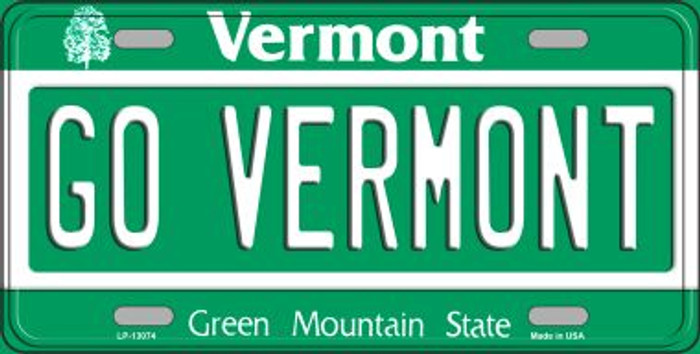 Go Vermont Novelty Metal License Plate LP-13074