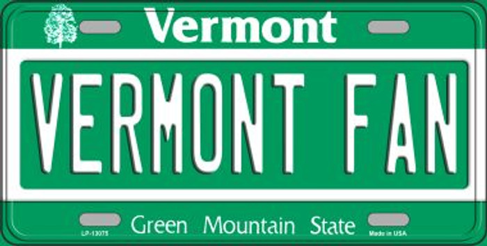 Vermont Fan Novelty Metal License Plate LP-13075